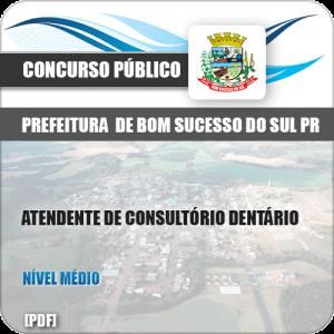 Apostila Bom Sucesso do Sul PR 2019 Atendente Consultório Dentário