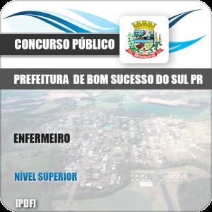 Apostila Concurso Pref Bom Sucesso do Sul PR 2019 Enfermeiro