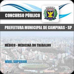 Apostila Pref Campinas SP 2019 Médico Medicina do Trabalho
