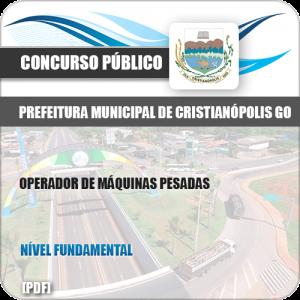 Apostila Pref Cristianópolis GO 2019 Operador de Máquinas Pesadas