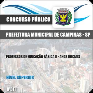Apostila Pref Campinas SP 2019 Professor II Anos Iniciais