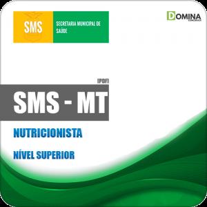 Apostila Concurso Público SMS Cuiabá MT 2019 Nutricionista