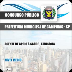 Apostila Pref Campinas SP 2019 Agente de Apoio à Saúde Farmácia