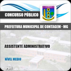 Apostila Pref Contagem MG 2019 Assistente Administrativo