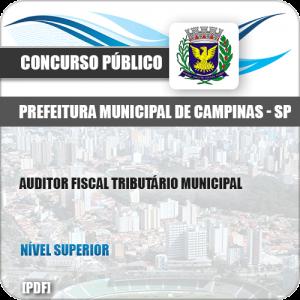 Apostila Pref Campinas SP 2019 Auditor Fiscal Tributário Municipal