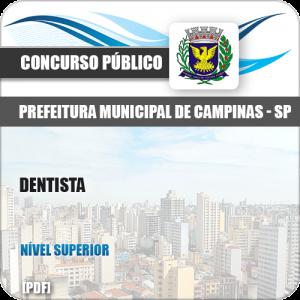 Apostila Concurso Público Pref Campinas SP 2019 Dentista