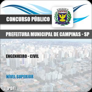 Apostila Concurso Público Pref Campinas SP 2019 Engenheiro Civil