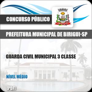 Apostila Pref Birigui SP 2019 Guarda Civil Municipal 3 Classe