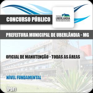 Apostila Pref Uberlândia MG 2019 Oficial de Manutenção Todas as Áreas