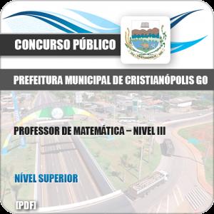 Apostila Pref Cristianópolis GO 2019 Professor Matemática Nível III