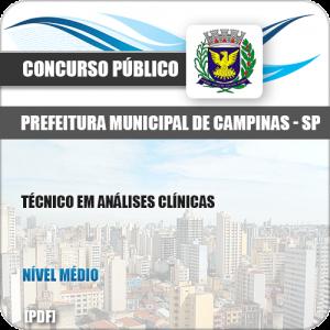 Apostila Pref Campinas SP 2019 Técnico em Análises Clínicas
