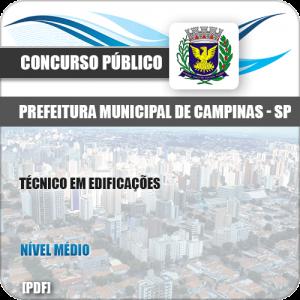 Apostila Concurso Pref Campinas SP 2019 Técnico em Edificações