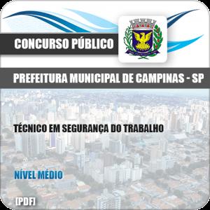 Apostila Pref Campinas SP 2019 Técnico em Segurança do Trabalho