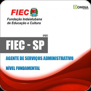 Apostila FIEC Indaiatuba SP 2019 Agente Serviços Administrativo