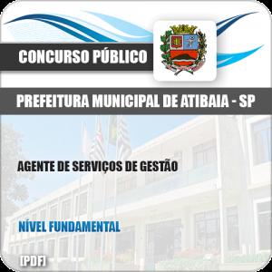 Apostila Pref Atibaia SP 2019 Agente de Serviços de Gestão