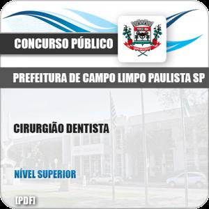 Apostila Pref Campo Limpo Paulista SP 2019 Cirurgião Dentista