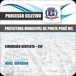 Apostila Seletivo Pref Ponta Porã MS 2019 Cirurgião Dentista ESF