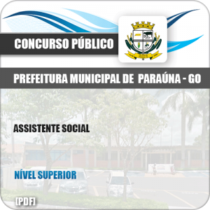 Apostila Concurso Público Pref Paraúna SP 2019 Assistente Social