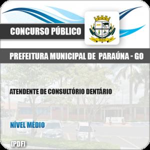 Apostila Pref Paraúna SP 2019 Atendente de Consultório Dentário