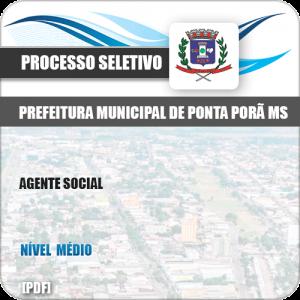 Apostila Processo Seletivo Pref Ponta Porã MS 2019 Agente Social