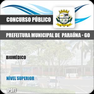 Apostila Concurso Público Pref Paraúna SP 2019 Biomédico