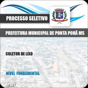 Apostila Seletivo Pref Ponta Porã MS 2019 Coletor de Lixo