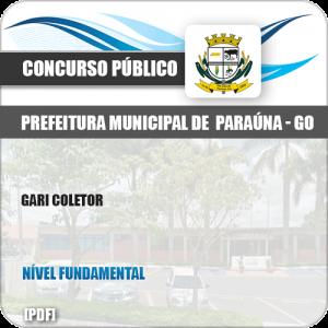 Apostila Concurso Público Pref Paraúna SP 2019 Gari Coletor