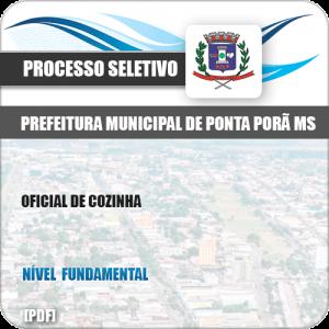 Apostila Seletivo Pref Ponta Porã MS 2019 Oficial de Cozinha