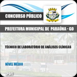 Apostila Pref Paraúna SP 2019 Tec Laboratório Análises Clínicas