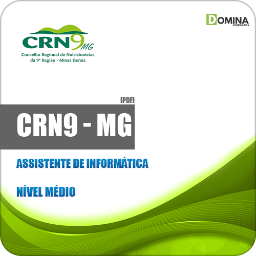 Apostila CRN 9ª Região MG 2019 Assistente de Informática