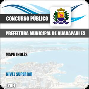 Apostila Concurso Público Pref de Guarapari ES 2019 MAPA Inglês