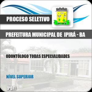 Apostila Pref Ipirá BA 2019 Odontólogo Todas Especialidades
