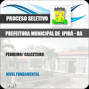 Apostila Processo Seletivo Pref Ipirá BA 2019 Pedreiro Calceteiro