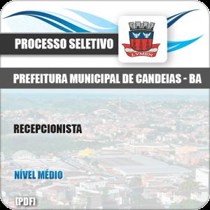 Apostila Concurso Público Pref de Candeias BA 2019 Recepcionista
