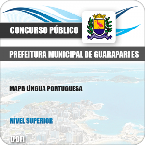 Apostila Pref de Guarapari ES 2019 MAPA Língua Portuguesa