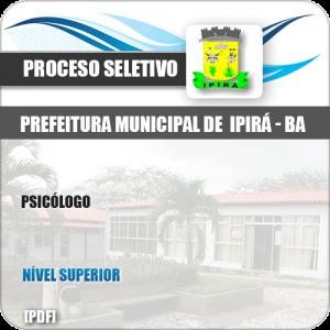 Apostila Processo Seletivo Pref Ipirá BA 2019 Psicólogo