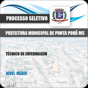 Apostila Seletivo Pref Ponta Porã MS 2019 Técnico de Enfermagem
