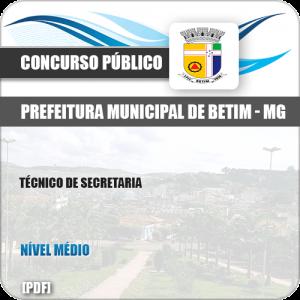 Apostila Concurso ISS Betim MG 2019 Técnico de Secretaria