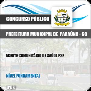 Apostila Pref Paraúna SP 2019 Agente Comunitário Saúde PSF