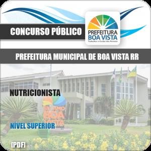 Apostila Concurso Público Pref Boa Vista RR 2019 Nutricionista