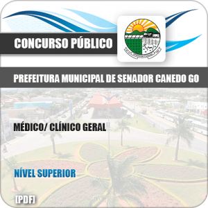 Apostila Pref Senador Canedo GO 2019 Médico Clínico Geral