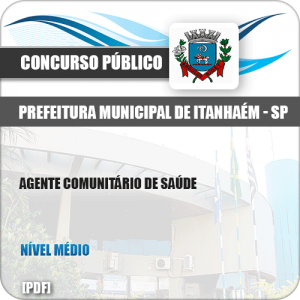 Apostila Pref Itanhaém SP 2019 Agente Comunitário de Saúde