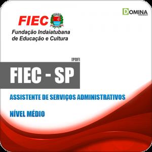 Apostila FIEC Indaiatuba SP 2019 Assistente Serviços Administrativos