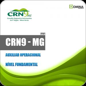Apostila Concurso CRN 9ª Região MG 2019 Auxiliar Operacional