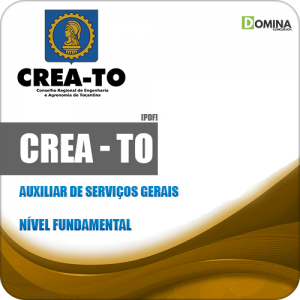 Apostila Concurso CREA TO 2019 Auxiliar de Serviços Gerais