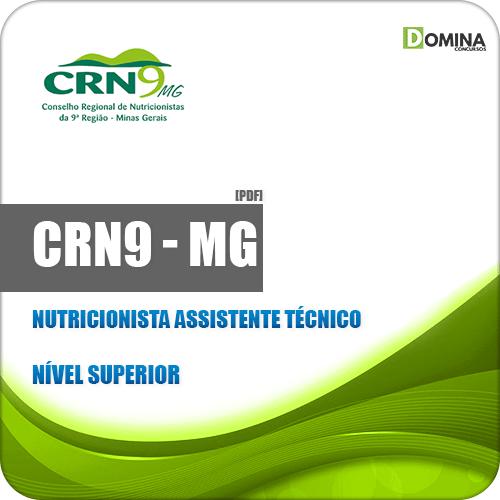 Apostila CRN 9ª Região MG 2019 Nutricionista Assistente Técnico