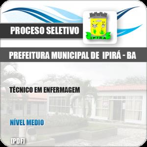 Apostila Seletivo Pref Ipirá BA 2019 Técnico em Enfermagem