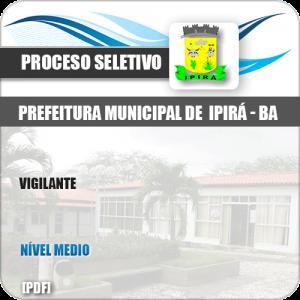 Apostila Processo Seletivo Pref Ipirá BA 2019 Vigilante