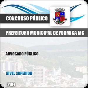 Apostila Concurso Pref Formiga MG 2019 Advogado Público