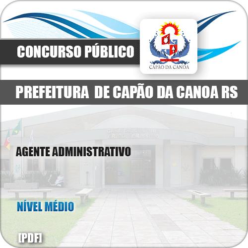 Apostila Pref Capão da Canoa RS 2019 Agente Administrativo